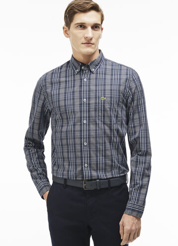 Men's Check Button Down Woven Shirt