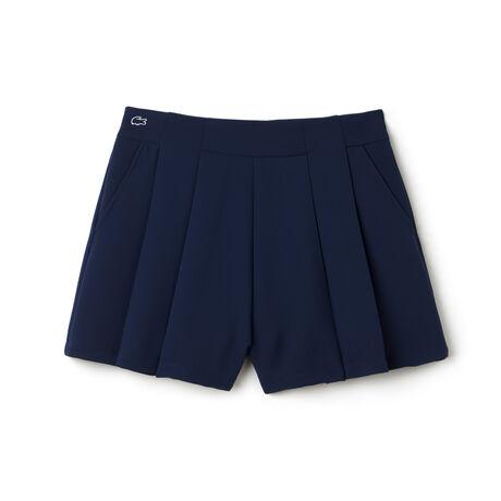 Women's L!VE Cotton Crepe Pleated Shorts