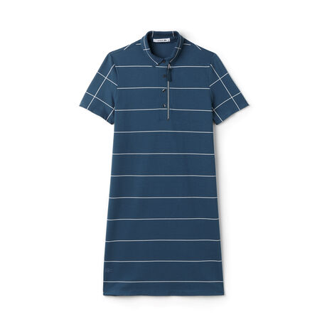 Women's Color Block Striped Piqué Polo Dress