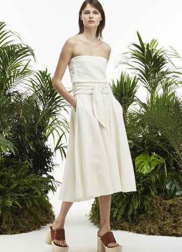 Women's Fashion Show Belted Terrycloth Bustier Dress