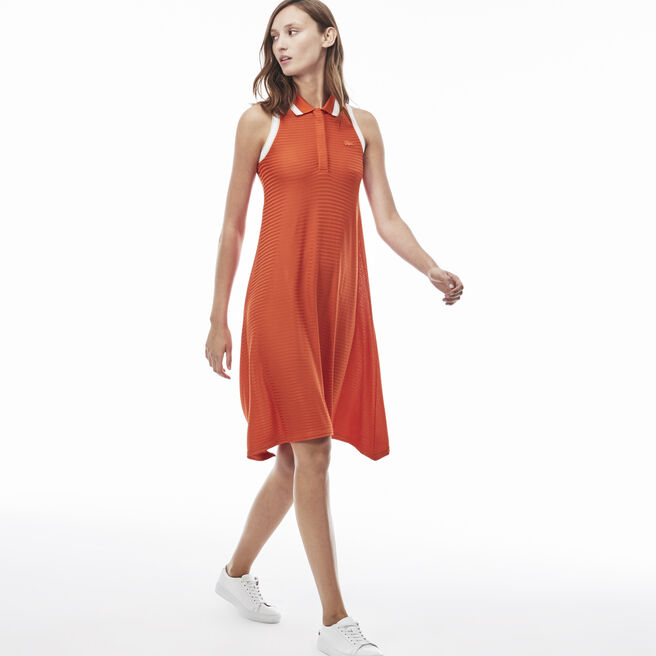 Women's Flat Rib Flowing Polo Dress