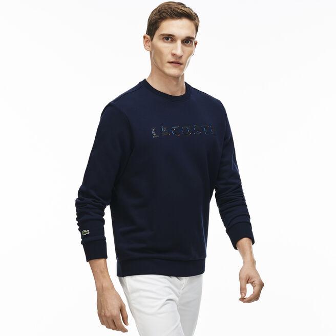 Men's Lacoste Lettering Cotton Fleece Sweatshirt