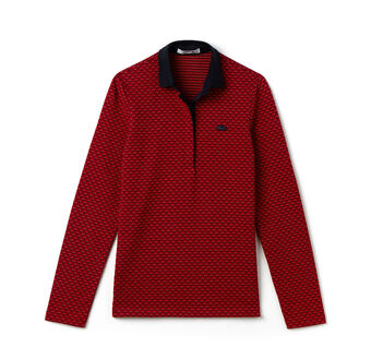 Women's Jacquard Pattern Polo Shirt