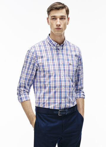 Men's Regular Fit Colorful Checked Poplin Shirt