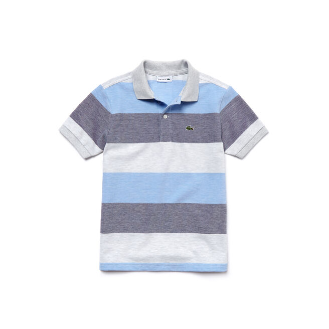 Boy's Classic Fit Striped Petit Piqué Polo Shirt