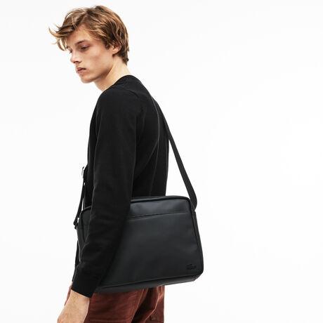 라코스테 메신저백 Lacoste Mens Classic Petit Pique Airline Bag,black