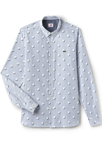Men's L!VE Slim Fit Stripes And Polka Dots Shirt