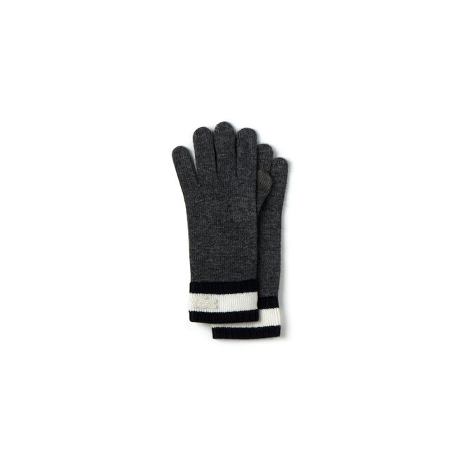 Women's Wool Blend Gloves With Contrast Wristbands