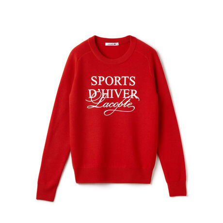 "Women's ""SPORTs D'Hiver"" Graphic Wool Sweater"
