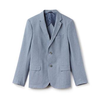 Men's Bicolor Cotton Linen Blend Suit Jacket