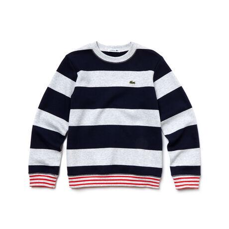 Kids' Contrast Finishes Striped Jersey Sweatshirt