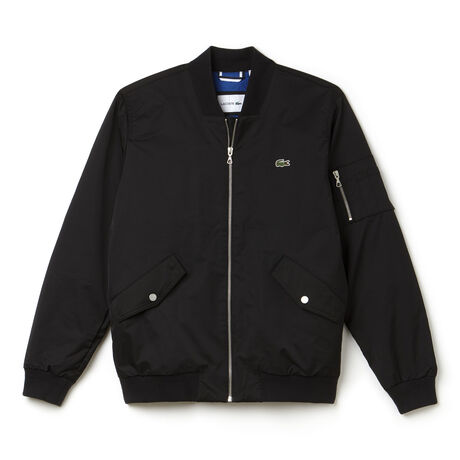 Men's  Textured Nylon Bomber Jacket