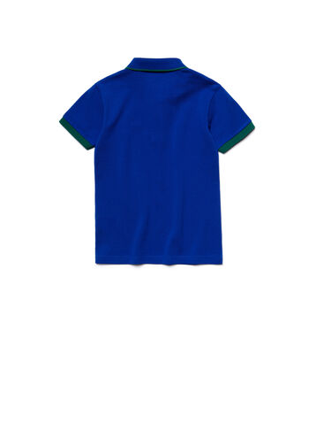 Kids' Piping Cotton Piqué Polo Shirt