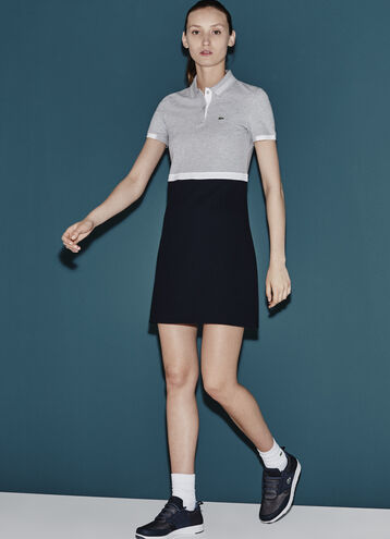 Women's SPORT Color Block Polo Dress
