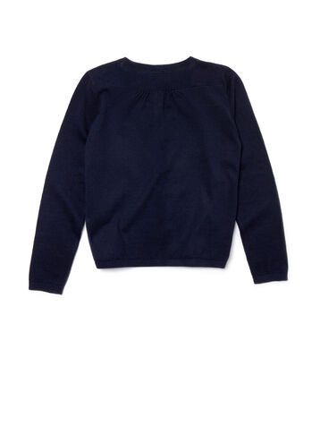 Kids' Crew Neck Contrast Accent Sweater