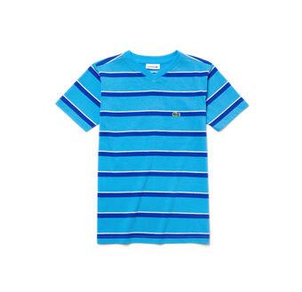 Kids' Jersey Striped V-Neck T-Shirt