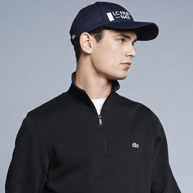 Men's Half Zip Lightweight Logo Sweatshirt