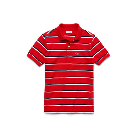 Boy's Fine Striped Piqué Polo Shirt