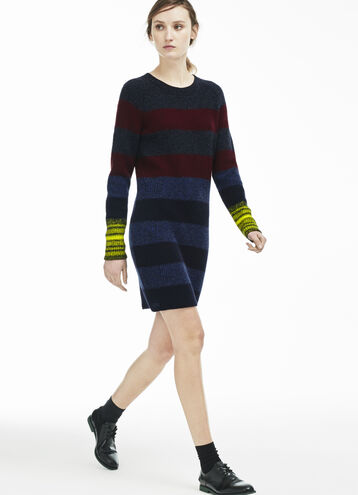 Women's Multi Stripe Chunky Sweater Dress