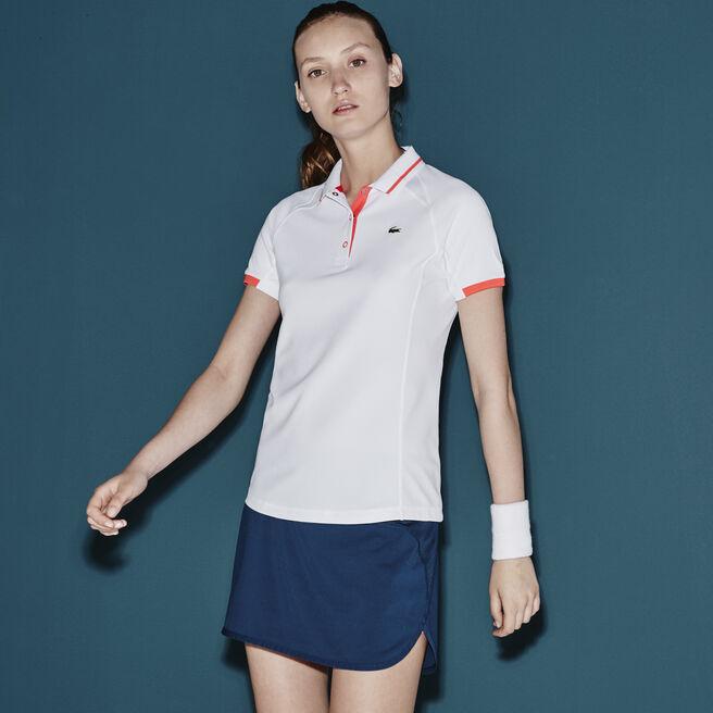 Women's SPORT Mesh Panel Technical Polo Shirt