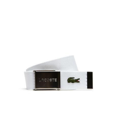 Men's L.12.12 Textile Signature Croc Logo Belt