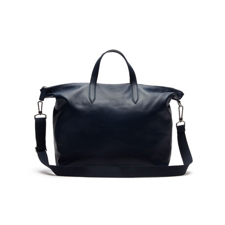 라코스테 더플백 Lacoste Mens L.12.12 Limited Edition 85th Anniversary Leather Weekend Bag,total eclipse