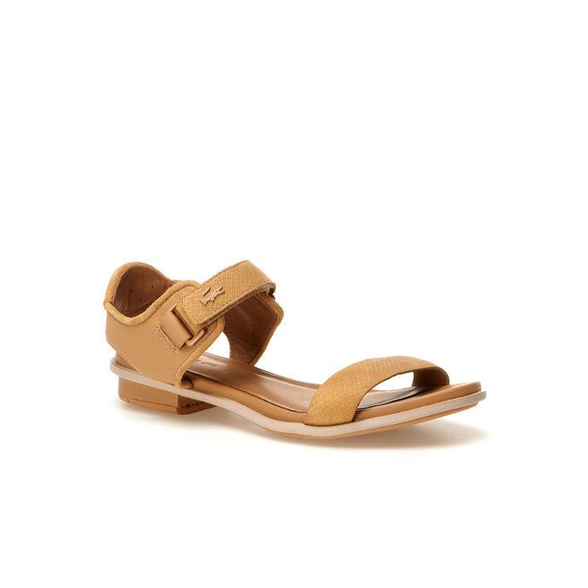 Women's Lonelle Flat Leather Velcro Sandals