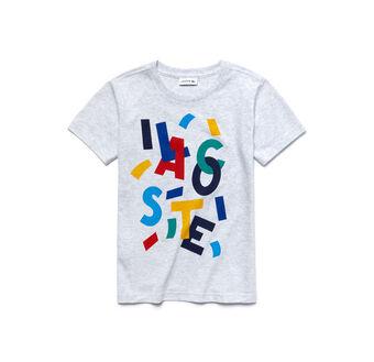Kids' Jersey Multicolor Graphic Crew Neck T-Shirt