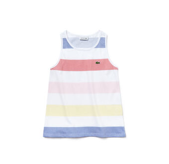 Girl's Crew Neck Color Block Jersey Tank Top