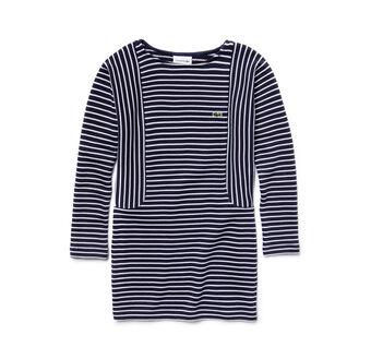 Girl's Multi-Stripe Sweatshirt Dress
