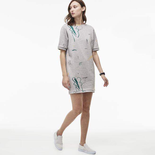 Women's LIVE Doodle Print Sweatshirt Dress