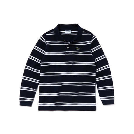 Kids' Nautical Cotton Piqué Polo Shirt