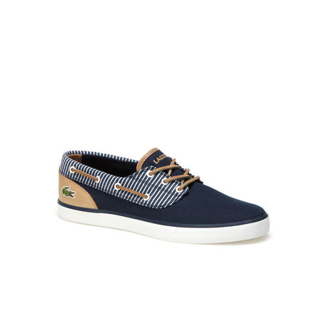 Men's Jouer Deck Canvas And Leather Boat Shoes