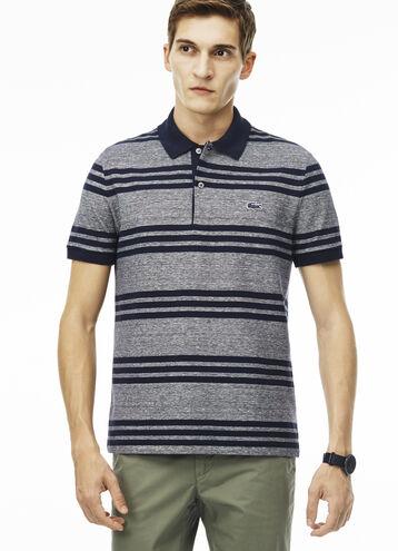 Men's Regular Fit Lacoste Striped Piqué Polo Shirt