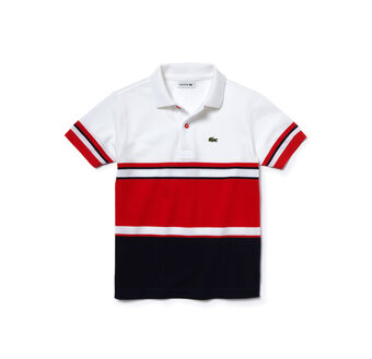 Kids' Color Block Cotton Piqué Polo Shirt