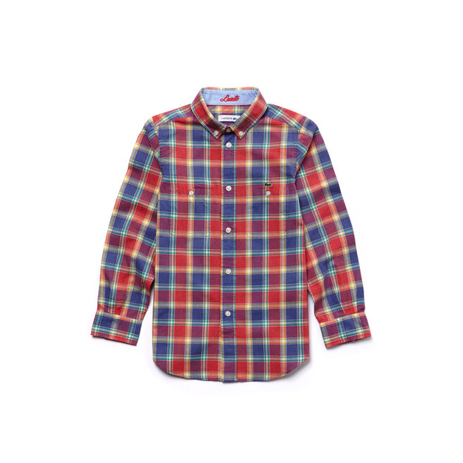 Boy's Check Poplin Shirt
