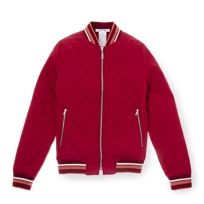 Women's Diamond Quilted Reversible Bomber Jacket