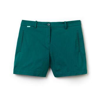 Women's Stretch Gabardine Cotton Bermuda Shorts
