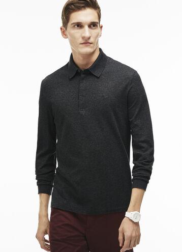 Men's Tonal Embroidered Crocodile Piqué Polo Shirt