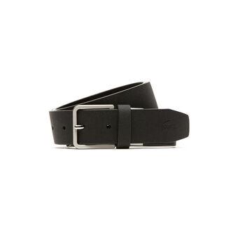 Men's Leather Pique Embossed Croc Belt