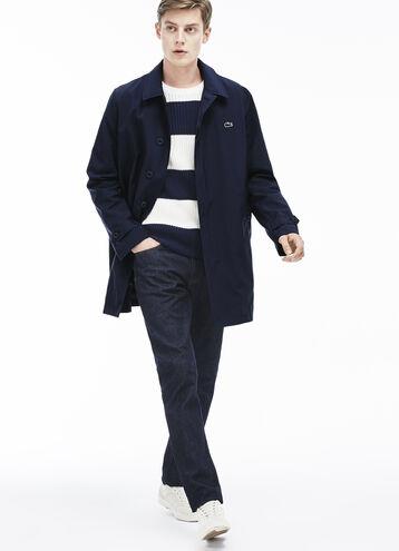 Men's Textured Nylon Overcoat