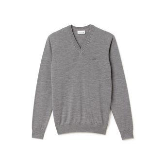 Men's Lambswool V-Neck Sweater