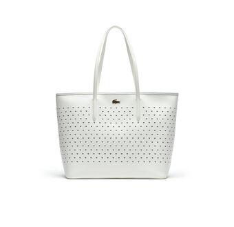 Women's Medium Chantaco Perforated Piqué Tote Bag
