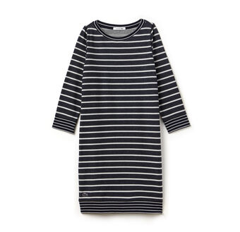 Women's Stripe Sweatshirt Dress