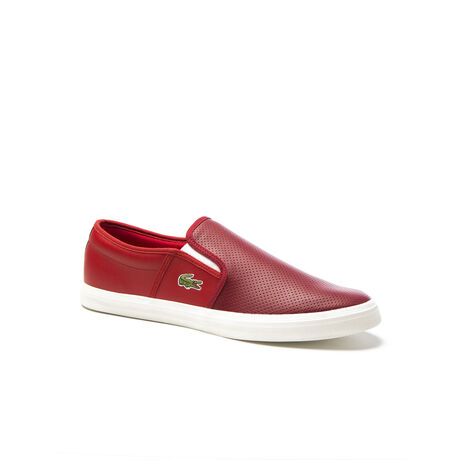 Men's Gazon Perforated Smooth Leather Slip-Ons