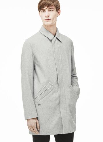 Men's Lacoste L!VE Wool Broadcloth Coat