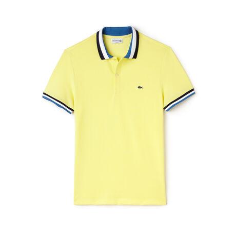 Men's Lacoste Matte Piping Petit Piqué Slim Fit Polo