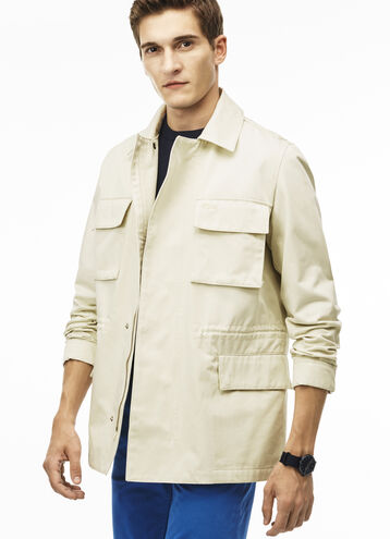 Men's Gabardine Various Pockets Zippered Jacket