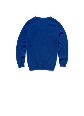 Boy's Solid V-Neck Sweater