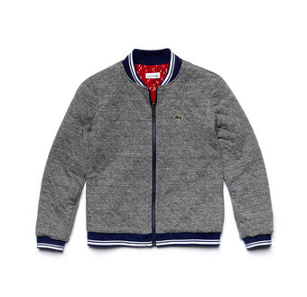 Kids' Reversible Quilted Jersey Bomber Jacket